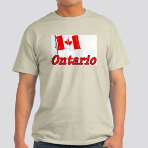 Canada Flag - Ontario Text Light T-Shirt