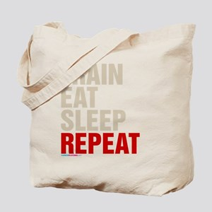 Train Eat Sleep Repeat Tote Bag
