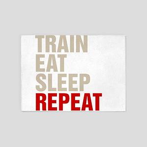 Train Eat Sleep Repeat 5'x7'Area Rug