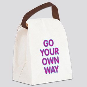 Go Your Own Way Canvas Lunch Bag