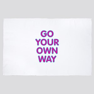 Go Your Own Way 4' x 6' Rug