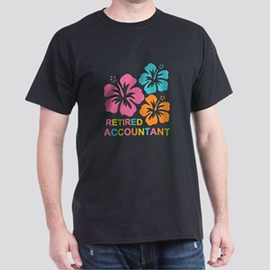 Hibiscus Retired Accountant Dark T-Shirt