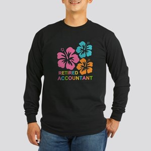 Hibiscus Retired Accounta Long Sleeve Dark T-Shirt