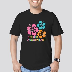 Hibiscus Retired Accou Men's Fitted T-Shirt (dark)