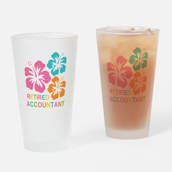 Hibiscus Retired Accountant Drinking Glass
