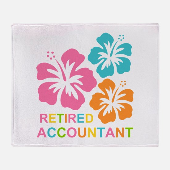 Hibiscus Retired Accountant Throw Blanket
