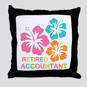 Hibiscus Retired Accountant Throw Pillow
