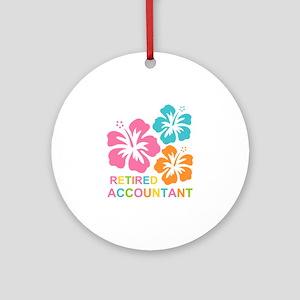 Hibiscus Retired Accountant Ornament (Round)