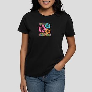 Hibiscus Retired Dental Hygie Women's Dark T-Shirt