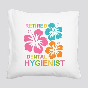Hibiscus Retired Dental Hygie Square Canvas Pillow