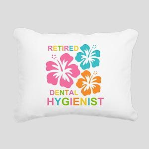 Hibiscus Retired Dental Rectangular Canvas Pillow