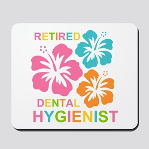 Hibiscus Retired Dental Hygienist Mousepad