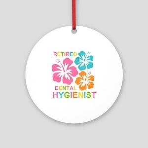 Hibiscus Retired Dental Hygienist Ornament (Round)