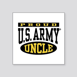 """Proud U.S. Army Uncle Square Sticker 3"""" x 3"""""""