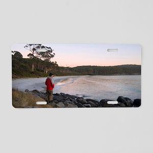 fortescue bay sunrise Aluminum License Plate