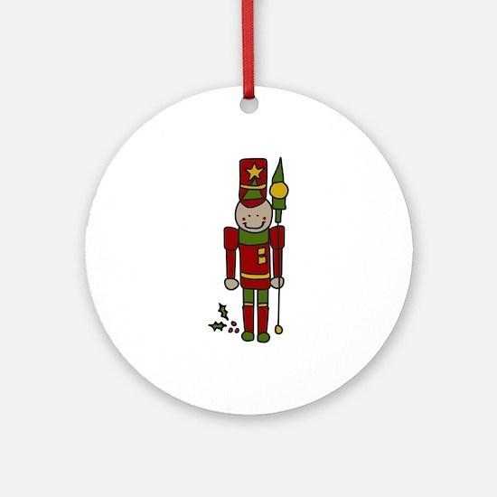 Christmas Nut Cracker Ornament (Round)