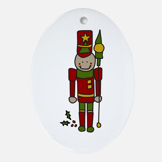 Christmas Nut Cracker Ornament (Oval)