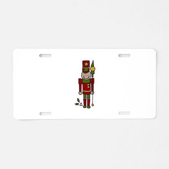 Christmas Nut Cracker Aluminum License Plate