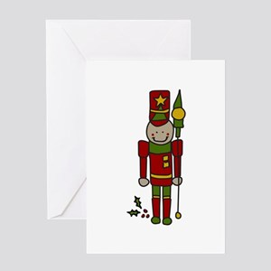 Christmas Nut Cracker Greeting Cards