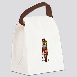 Christmas Nut Cracker Canvas Lunch Bag