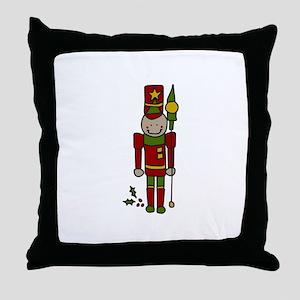 Christmas Nut Cracker Throw Pillow