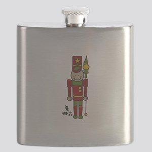 Christmas Nut Cracker Flask