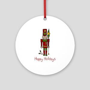 Holiday Nut Cracker Ornament (Round)