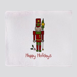 Holiday Nut Cracker Throw Blanket