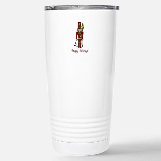 Holiday Nut Cracker Travel Mug