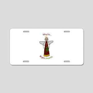 Miracle Angel Aluminum License Plate