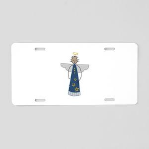 Christmas Angel Aluminum License Plate