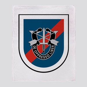 20th Special Forces Throw Blanket