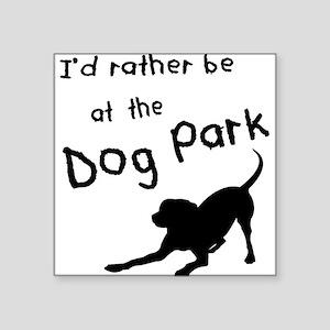 "Dog Park Square Sticker 3"" x 3"""