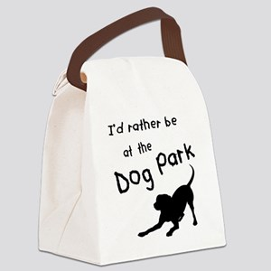 Dog Park Canvas Lunch Bag