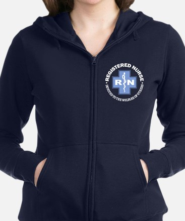 RN -devoted to others Women's Zip Hoodie