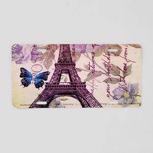 blue butterfly modern paris eiffel tower Aluminum