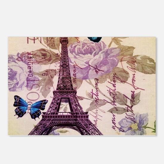 blue butterfly modern paris eiffel tower Postcards