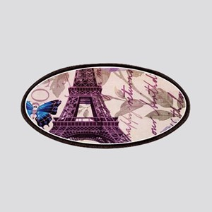 blue butterfly modern paris eiffel tower Patches