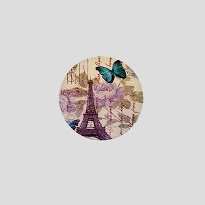 blue butterfly modern paris eiffel tower Mini Butt