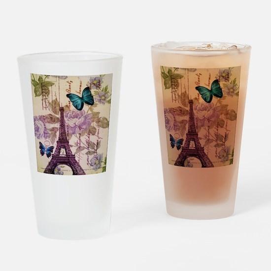 blue butterfly modern paris eiffel tower Drinking