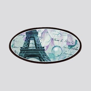 stamps purple floral modern paris eiffel tower Pat