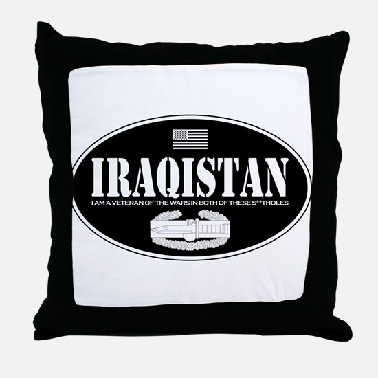Iraqistan CAB Throw Pillow