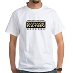 Garage Nation Gold Logo White T-Shirt