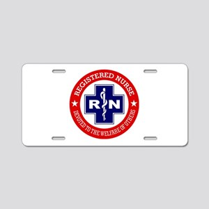 Registered Nurse (red-blue) Aluminum License Plate