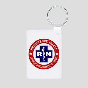 Registered Nurse (red-blue) Keychains