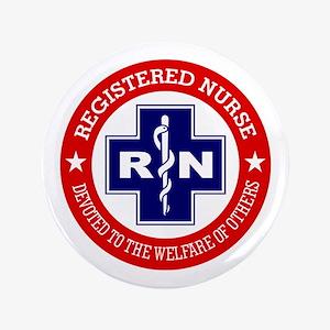 "Registered Nurse (red-blue) 3.5"" Button"