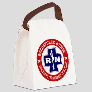 Registered Nurse (red-blue) Canvas Lunch Bag