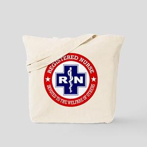 Registered Nurse (red-blue) Tote Bag