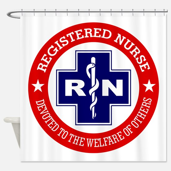 Registered Nurse (red-blue) Shower Curtain