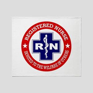 Registered Nurse (red-blue) Throw Blanket